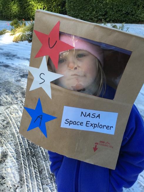 Space curriculum at preschool is inspiring.